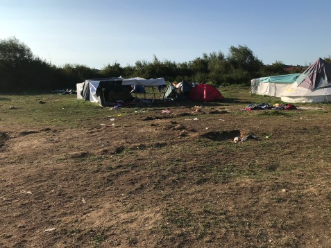 Zelte im Camp