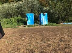 Die Duschen für die Bewohner
