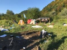 verlassene Zelte im Camp