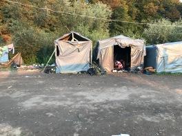 Unterkünfte im Camp
